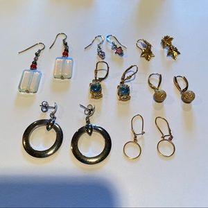 Bundle of 7 pairs of dangle earrings